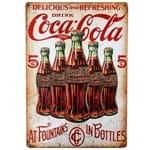 Placa Decorativa Mdf Coca Cola 5 Cents