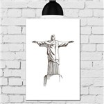 Placa Decorativa MDF Cristo Redentor