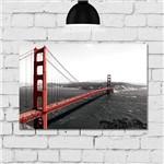 Placa Decorativa MDF Foto Golden Gate