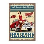 Placa Decorativa MDF Frase Auto Service