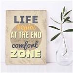 Placa Decorativa MDF Frase Comfort Zone