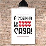 Placa Decorativa MDF Frase Coração da Casa
