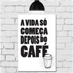 Placa Decorativa MDF Frase Cozinha Depois do Café 30x40