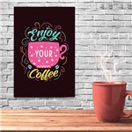 Placa Decorativa MDF Frase Enjoy Coffee