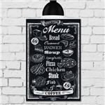Placa Decorativa MDF Frase Giz Menu Restaurante