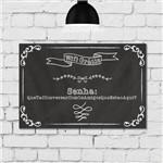 Placa Decorativa MDF Frase Giz Wifi 20x30cm