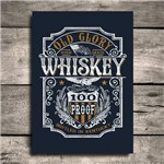 Placa Decorativa MDF Frase Glory Whisky