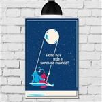 Placa Decorativa MDF Frase Lua Amor
