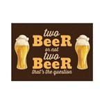 Placa Decorativa MDF Frase Two Beer