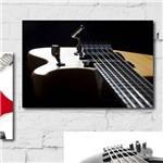 Placa Decorativa MDF Guitarra Preta 30x40