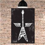 Placa Decorativa MDF Guitarra