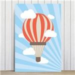 Placa Decorativa MDF Infantil Balao e Nuvens 30x40cm