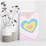 Placa Decorativa MDF Infantil Coração