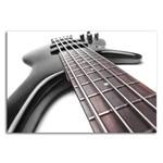 Placa Decorativa MDF Música Guitarra Preta 20x30cm
