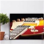 Placa Decorativa MDF Música Guitarra Vermelha 30x40cm