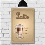 Placa Decorativa MDF Tipos de Café Latte