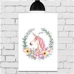 Placa Decorativa MDF Unicornio