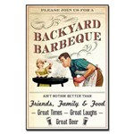 Placa Decorativa MDF Vintage Barbecue
