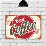 Placa Decorativa MDF Vintage Best Coffee