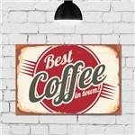 Placa Decorativa MDF Vintage Best Coffee