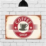 Placa Decorativa MDF Vintage Coffee Shop