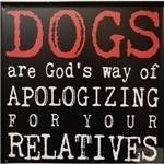 Placa Decorativa Metal Dogs