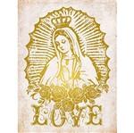 Placa Decorativa Nossa Senhora 23X16,8cm DHPMH-006 - Litoarte