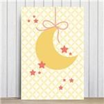 Placa Decorativa para Quarto de Bebê Lua e Estrelas 20x30cm