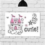 Placa Decorativa para Quarto de Menina Princesa Castelo