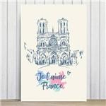 Placa Decorativa Paris Notre Dame MDF 20x30