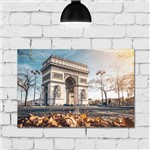 Placa Decorativa Paris Viagem Arco do Triunfo 30x40cm
