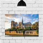 Placa Decorativa Paris Viagem Notre Dame 30x40cm