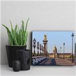 Placa Decorativa Paris Viagem Ponte Alexandria 20x30cm
