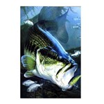 Placa Decorativa Pesca 02 Bass Vertical - 20 X 30 Cm