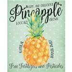Placa Decorativa Pineapple 24x19cm Dhpm-133 - Litoarte