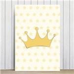 Placa Decorativa Quarto Bebe Ursinha Princesa Coroa 20x30cm