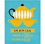 Placa Decorativa um Bom Chá 24x19cm Dhpm-136 - Litoarte