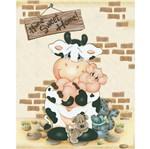 Placa Decorativa Vaquinha e Animais 24x19cm Dhpm-099 - Litoarte