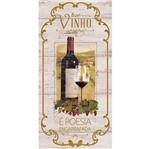 Placa Decorativa Vinho é Poesia Engarrafada 40x19cm Dhpm3-007 - Litoarte