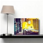 Placa Decorativa Vintage Carro Antigo Amarelo 30x40cm
