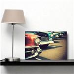 Placa Decorativa Vintage Carro Antigo Vermelho Azul 20x30cm
