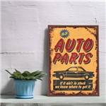 Placa Decorativa Vintage Carros Auto Parts 30x40cm
