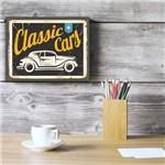 Placa Decorativa Vintage Carros Classic Cars 30x40cm