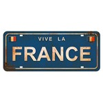 Placa Decorativa Vive La France 14,6x35cm Dhpm2-075 - Litoarte