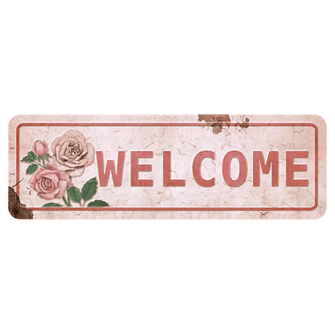 Placa Decorativa Welcome 40x13cm