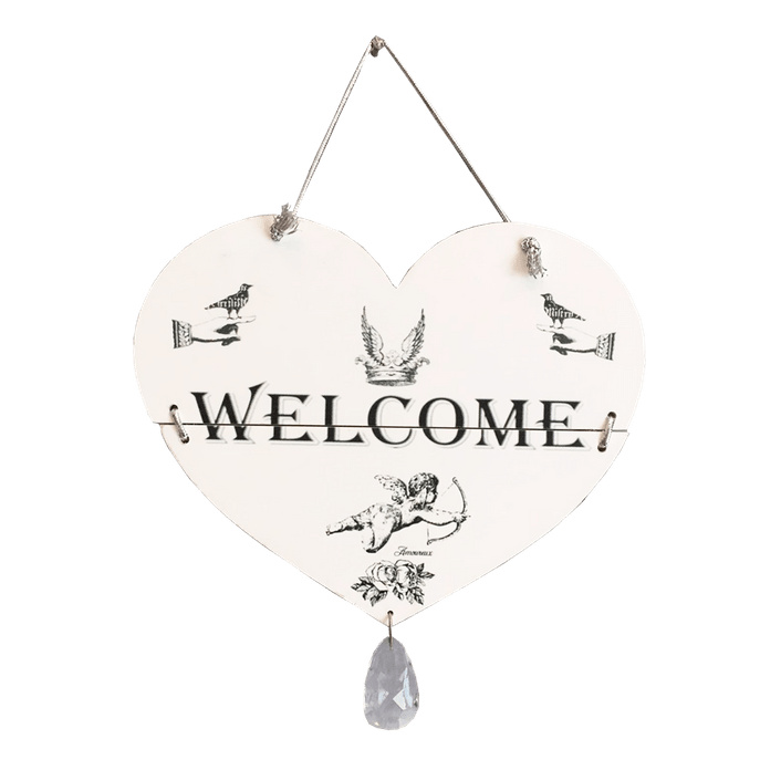 Placa Decorativa Welcome Cristal MDF