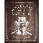 Placa Decorativa Welcome Salon 24x19cm Dhpm-159 - Litoarte