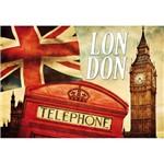 Placa Decorativa 32x21,5cm London Lpqm-021 - Litocart