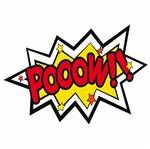 Placa Decorativa 32x21,5cm Pooow!! LPQM-032 - Litocart