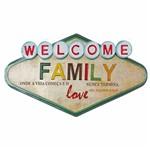Placa Decorativa 32x21,5cm Welcome Family LPQM-030 - Litocart